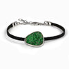 Uvarovite Leather bracelet