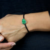 Uvarovite Leather bracelet on model