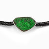 Uvarovite leather choker
