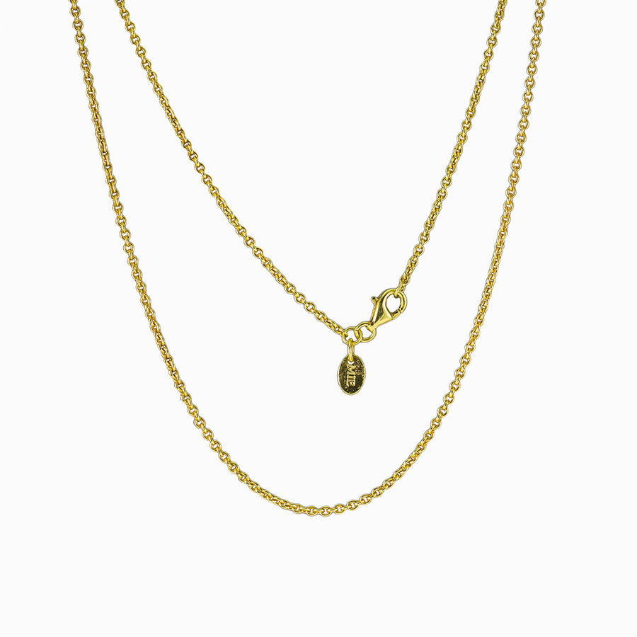 14k Yellow Gold Vermeil Fine Cable Chain
