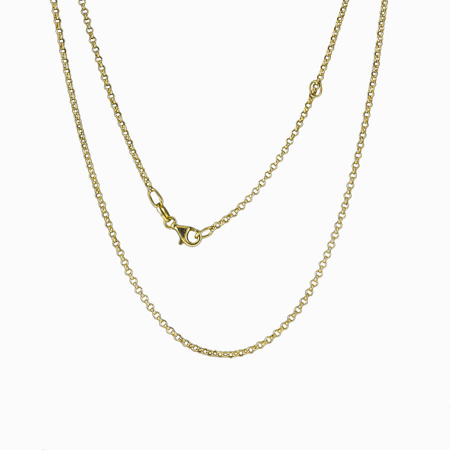 14k Yellow Gold Vermeil Fine Rolo Chain