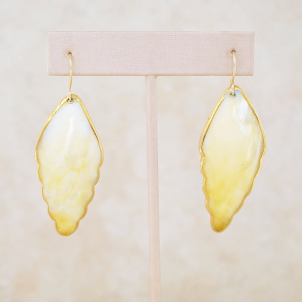 Mother of Pearl Wing Earrings