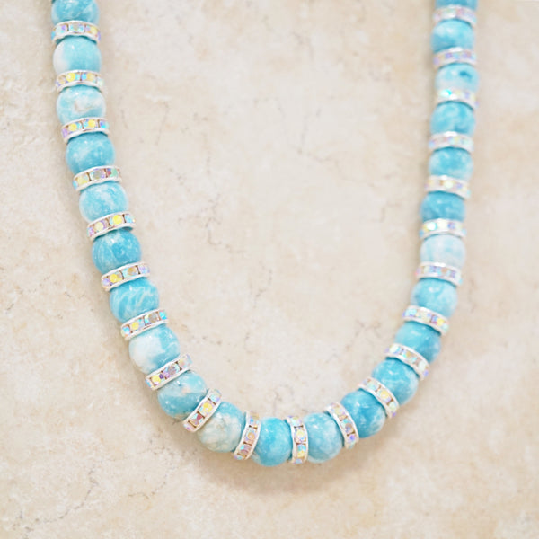 Larimar Quartz Rondelet Necklace