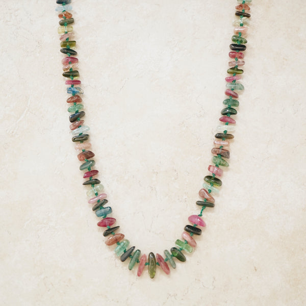 Vintage Multicolored Agate Gemstone Necklace, 1960s