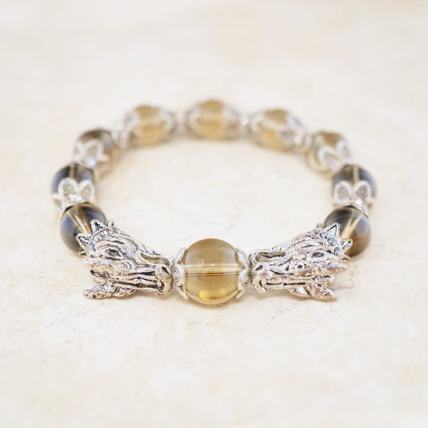 Smokey Quartz Dragon Bracelet