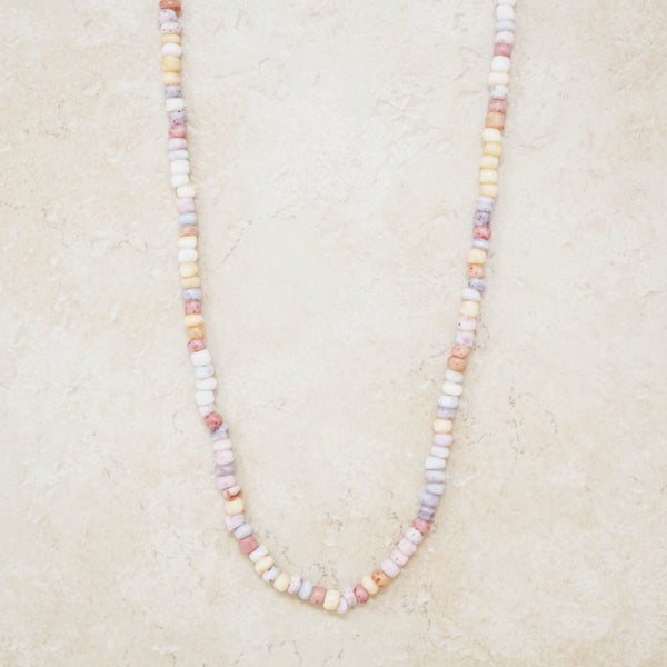 Vintage Pastel Seed Bead Necklace, 1980s