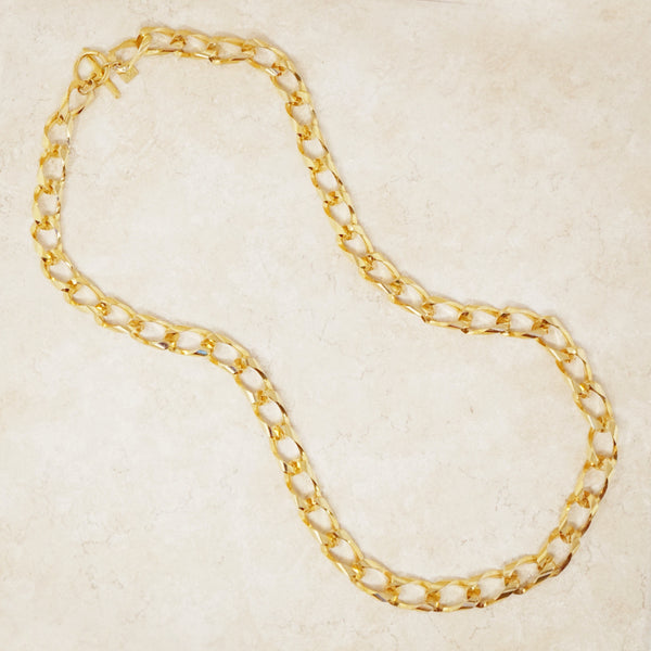 Vintage Gold Chunky Chain Necklace by Anne Klein, 1980s