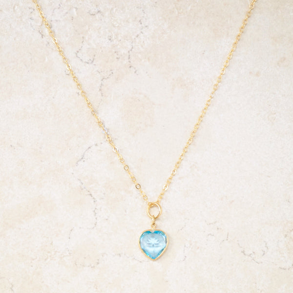 Aquamarine Sweetheart Necklace