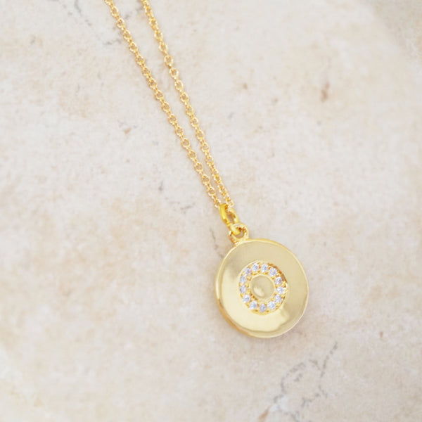 Pavé Initial Necklace (Gold)