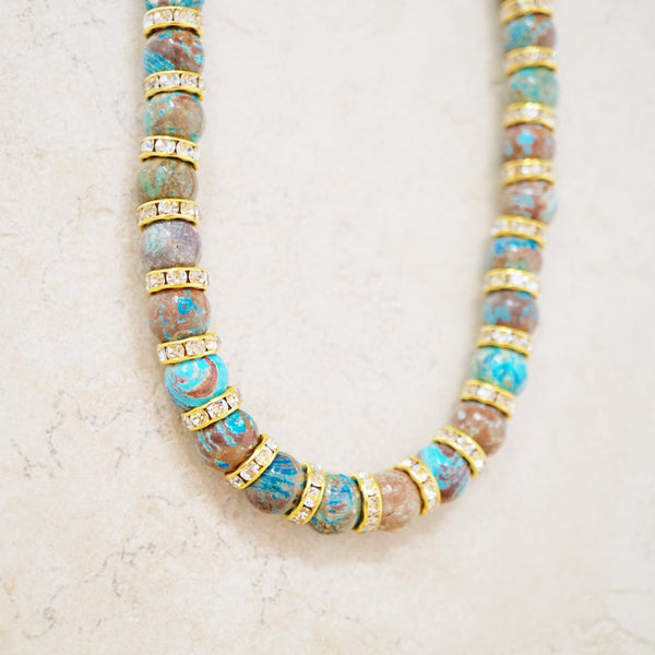 Mexican Agate Rondelet Necklace