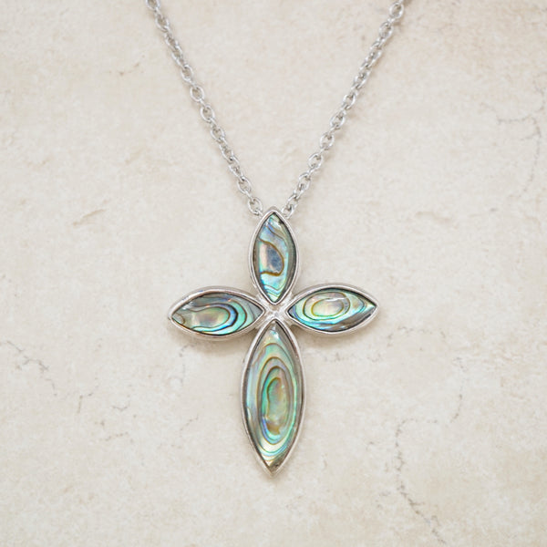 Abalone Cross Necklace