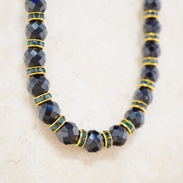Onyx Rondelet Necklace