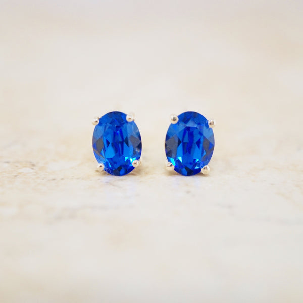 Swarovski & Sterling Stud Earrings