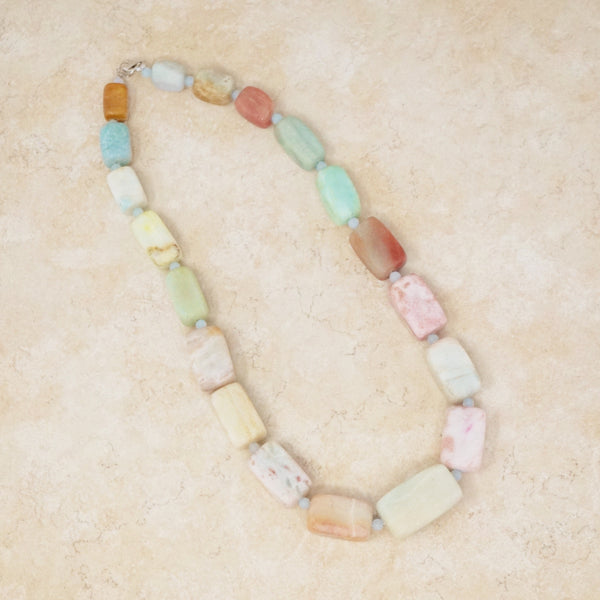 Chunky Aquamarine Gemstone Necklace