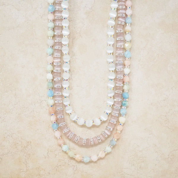 Cat's Eye Quartz Rondelet Necklace