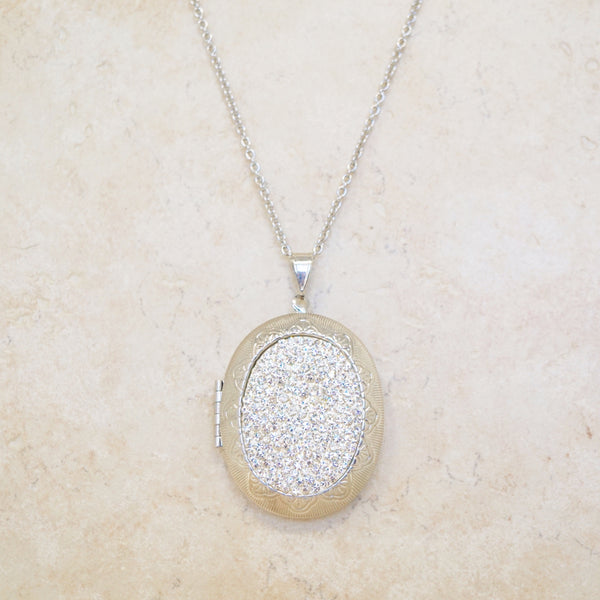 Crystal Pavé Locket