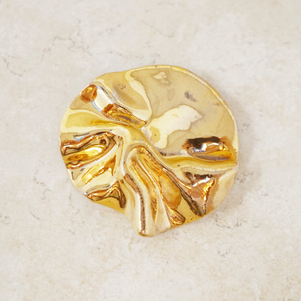Vintage Gold Abstract Bunched Brooch