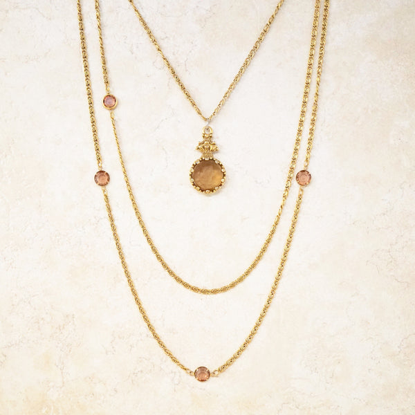 Goldette Cameo Necklace