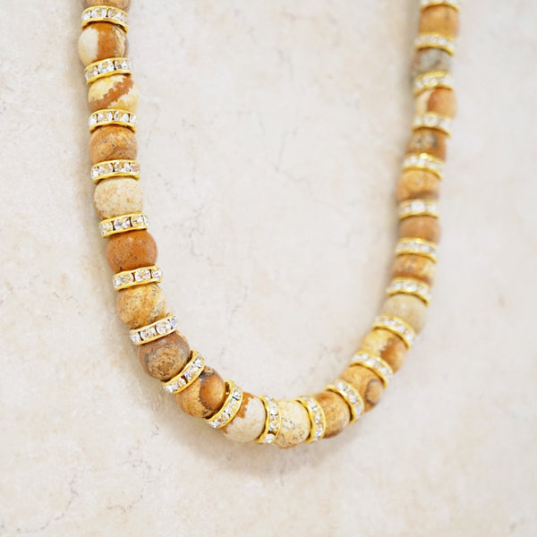 Picture Jasper Rondelet Necklace