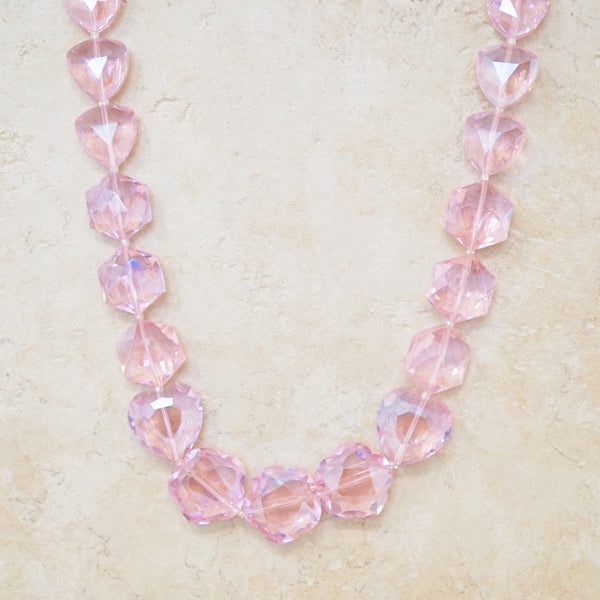 Chunky Pink Crystal Necklace