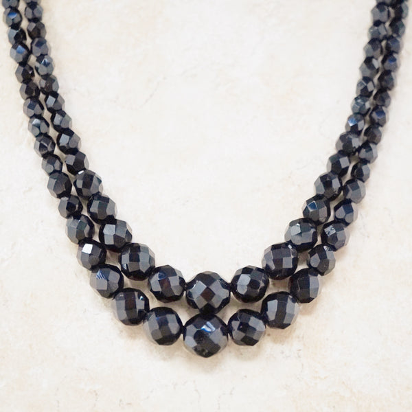 Onyx Double Strand Necklace