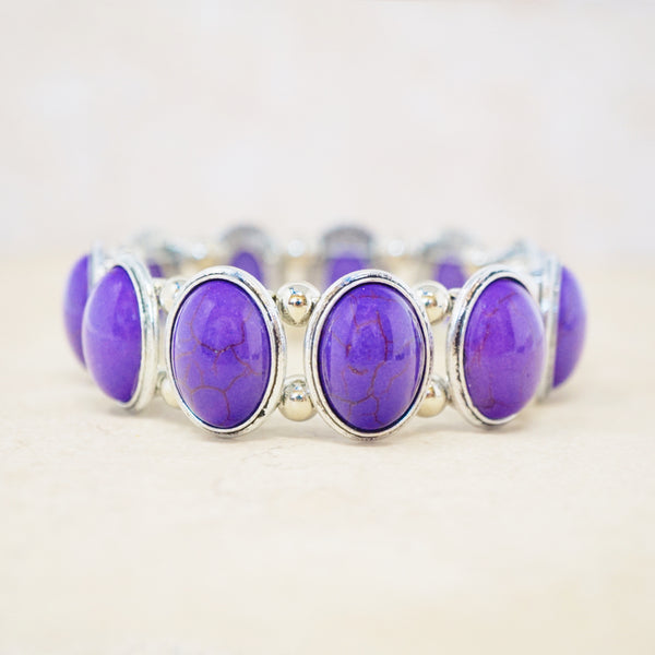 Purple Howlite Stretch Bracelet