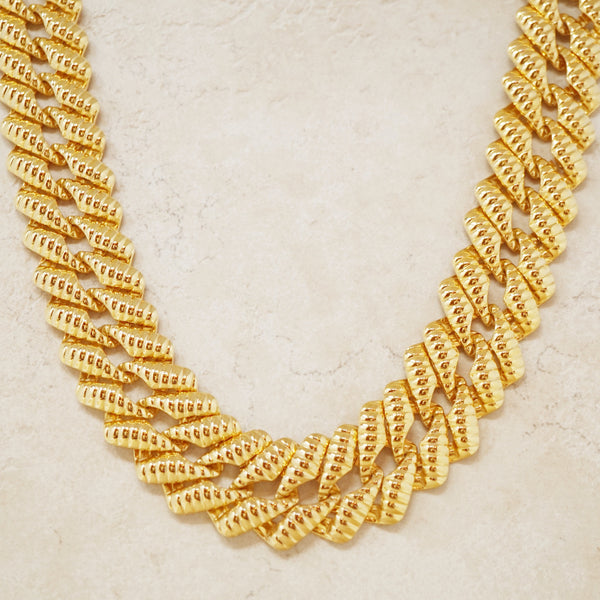 Vintage Napier Gold Flat Chain Necklace