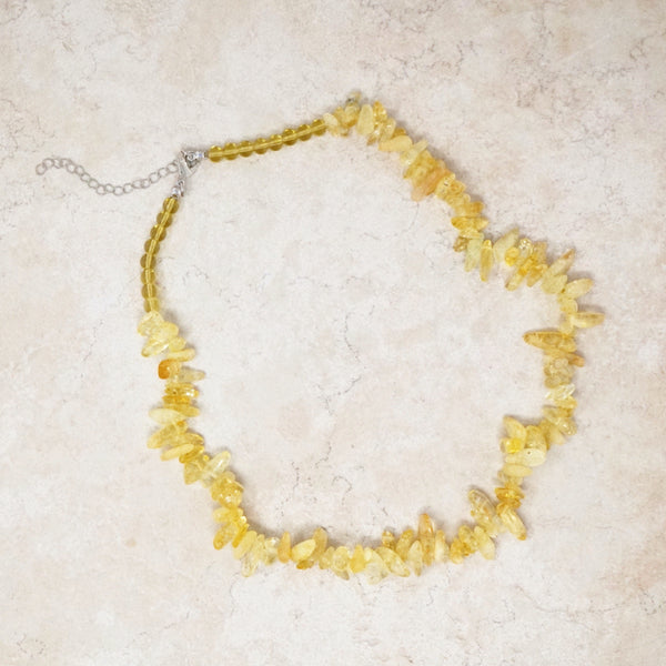 Yellow Quartz Gemstone Necklace