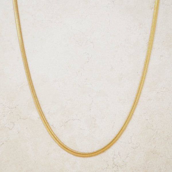 "Vintage 30"" Gilded Snake Chain by Crown Trifari, 1960s"