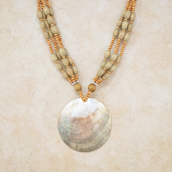 Gold Lip Pearl Shell Necklace