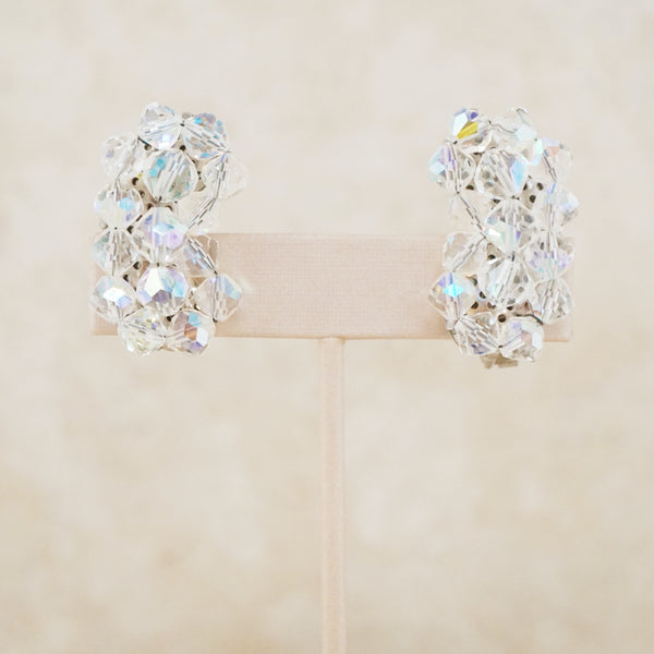 Vintage Crystal Cluster Ear Climbers