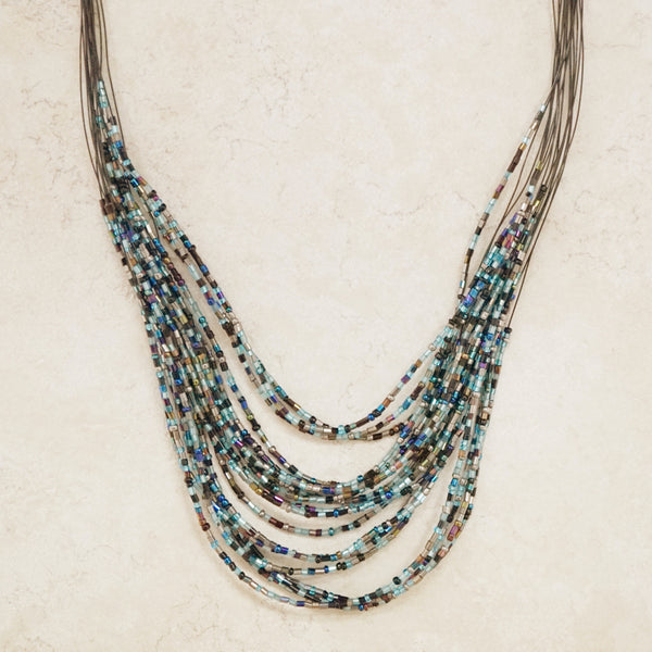 Iridescent Seed Bead Necklace