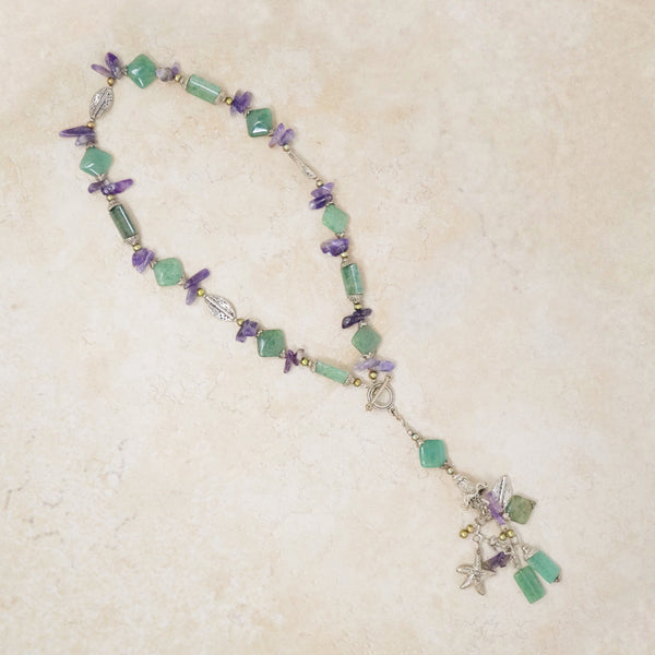 Jade & Amethyst Statement Necklace