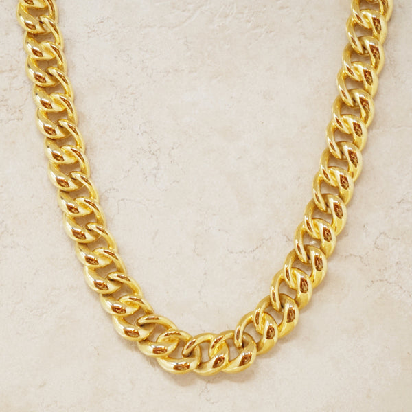 Vintage Monet Heavy Curb Chain Necklace