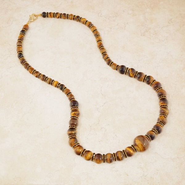 Tiger's Eye Rondelet Necklace