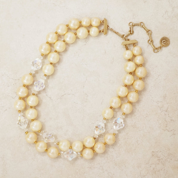 Vintage Lisner Double Strand Beaded Necklace