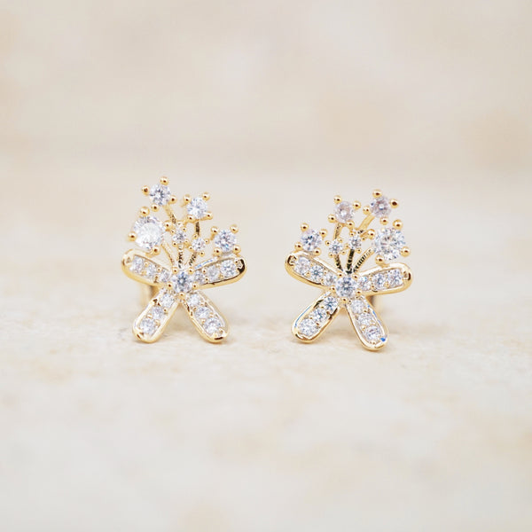 Lily of the Nile Stud Earrings