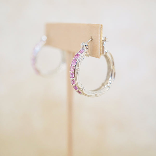 Peony Hoop Earrings