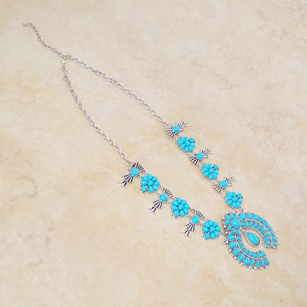 Turquoise Squash Blossom Necklace