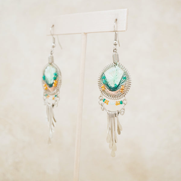 Vintage Silver Dreamcatcher Earrings, 1990s