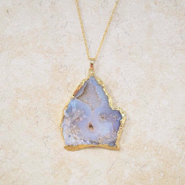One-of-a-Kind Druzy Geode Necklace