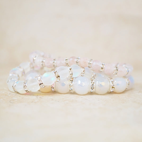 Mystic Rose Quartz Gemstone Bracelet