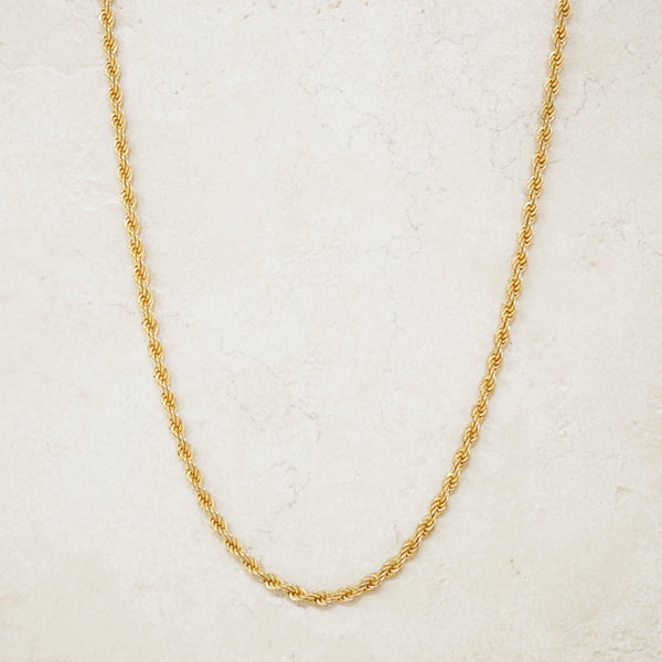 "Vintage 16"" Gilded Rope Chain by Monet, 1980s"