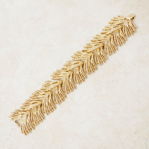 "Vintage Gilded ""Celestial Spray"" Statement Bracelet by Sarah Coventry, 1960s"