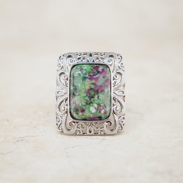 Unakite Gemstone Ring