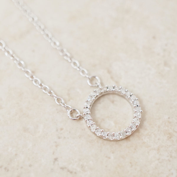 Eternal Circle Diamond Pavè Necklace
