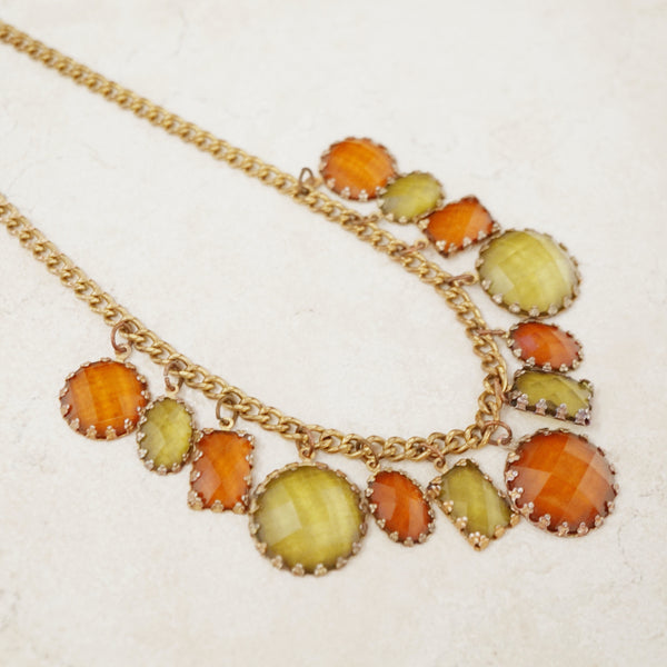 Vintage Faceted Charm Necklace