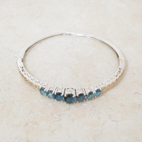 Sterling Silver and Swarovski Crystal Bangle