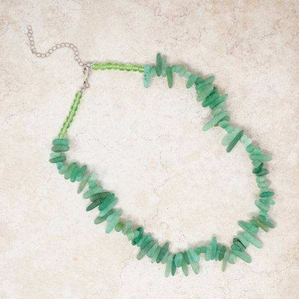 Jade Quartz Gemstone Necklace