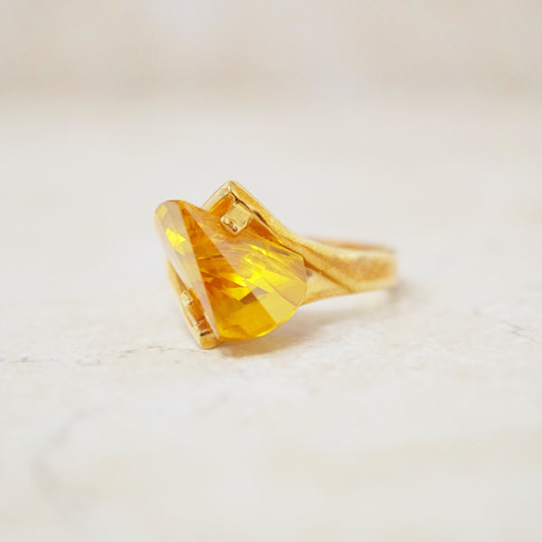 Gold Vermeil & Crystal Citrine Ring